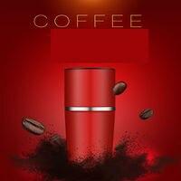 Tragbare Rucksack Kaffee Maker Hand Mühle Tumbler Tasse Fleck Mühle stahl Kaffee Tasse|cup cups|cups tumblercup portable -