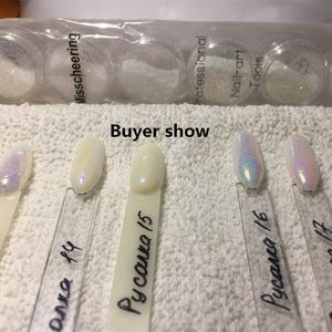 Image 5 - 6pcs/set Unicorn Aurora White Sequins Nail Art Glitter Powder Mermaid Dust Small Flakes Decorations For DIY Nails Glitters