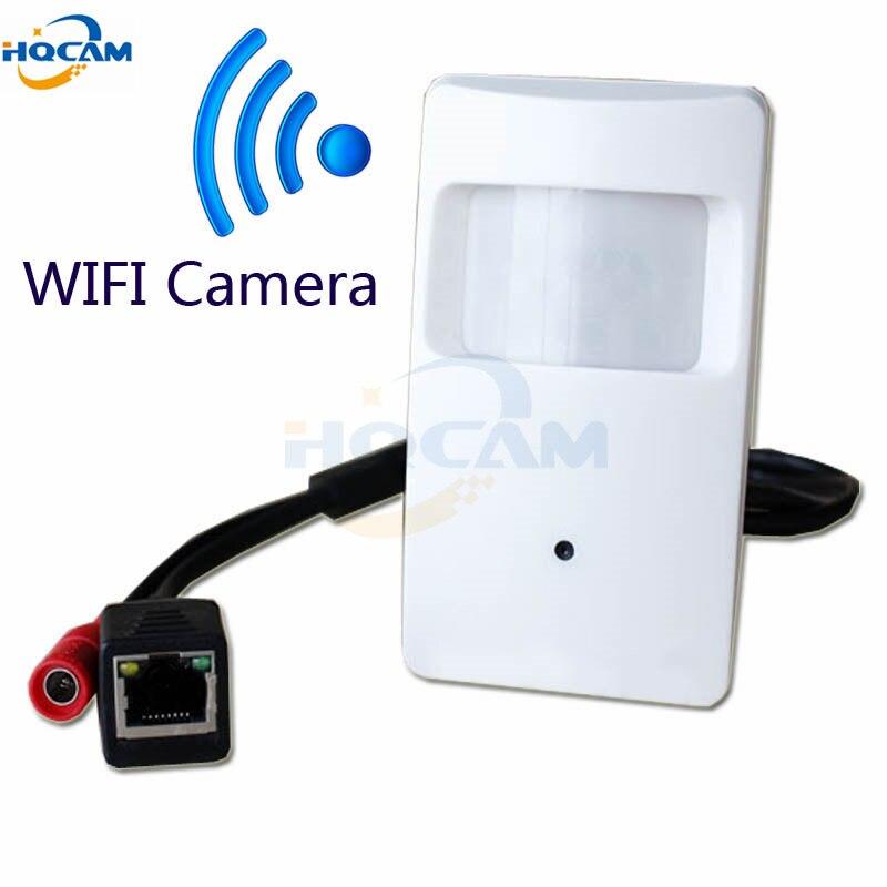Hqcam 960 P мини IP-камера Wi-Fi Onvif 2.0 PIR Камера тайное ПИР IP-камера 3.7 мм объектив мобильного телефона P2P дома беспроводной Безопасности Cam