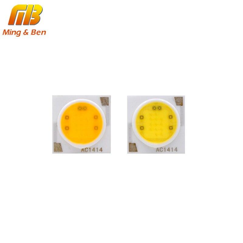LED COB Bead 3W 5W 7W 9W 12W 15W 18W 220V Cold White Warm White 13.5*13.5mm 19*19mm COB Lamp Holder 11mm For Spotlight 5PCS/Lot