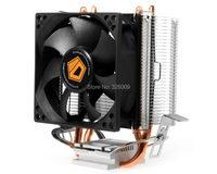 High Quality 80mm Fan 2 Heatpipe TDP 95W For Intel LGA7755 1150 115x FM2 FM1 AM3