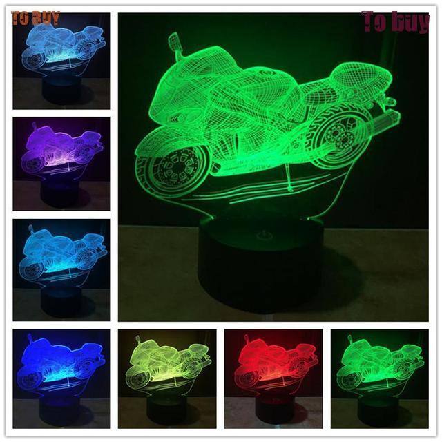 3d Lámpara Increíble LED 3D Cráneo Iluminado Ilusión Escultura de Luz Lámpara de Escritorio Noche E2 compras Luz de La Noche