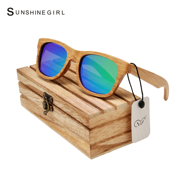 Fishing Circular Bamboo Sunglasses Colours Lens Polairzed Glasses  Frames Outdoor Women Bamboo  Sunglasses