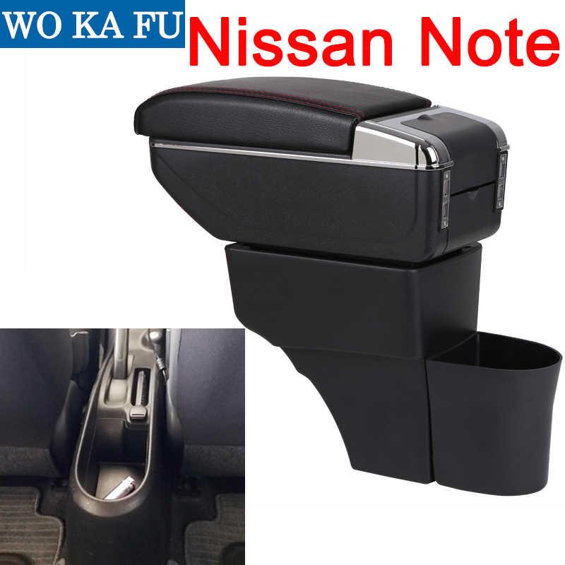Para Nissan Note caja consola central caixa de braço carro universal acessórios modificação levantadas dupla com USB