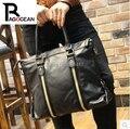 New fashion style Men black business Handbags leisure Leather Bag computer Messenger Bag Single shoulder bag Free shipping