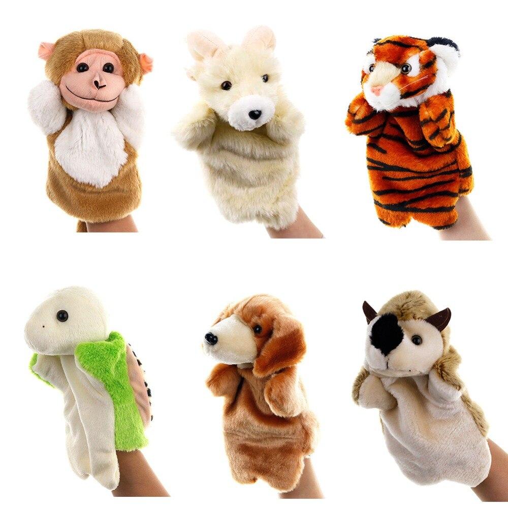 Game-Props Puppet Dolls Plush-Toys Dog-Seal Animal Tiny Elephant Marioneta Baby Cat 28-Colors