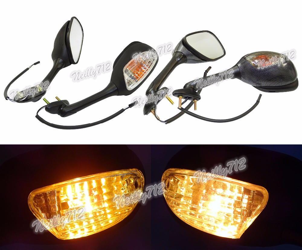 waase Left & Right LED Turn Signal Rear View Mirror For Suzuki GSXR1000 GSXR 1000 2009 2010 2011 2012 2013 2014 2015-2017waase Left & Right LED Turn Signal Rear View Mirror For Suzuki GSXR1000 GSXR 1000 2009 2010 2011 2012 2013 2014 2015-2017