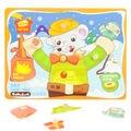 Brinquedos de Desenvolvimento precoce Educacional 3D de Madeira Jigsaw Puzzles Pai Chegou Em Casa Placa de Madeira Cérebro Teaser de Puzzle para Crianças Presentes para Crianças