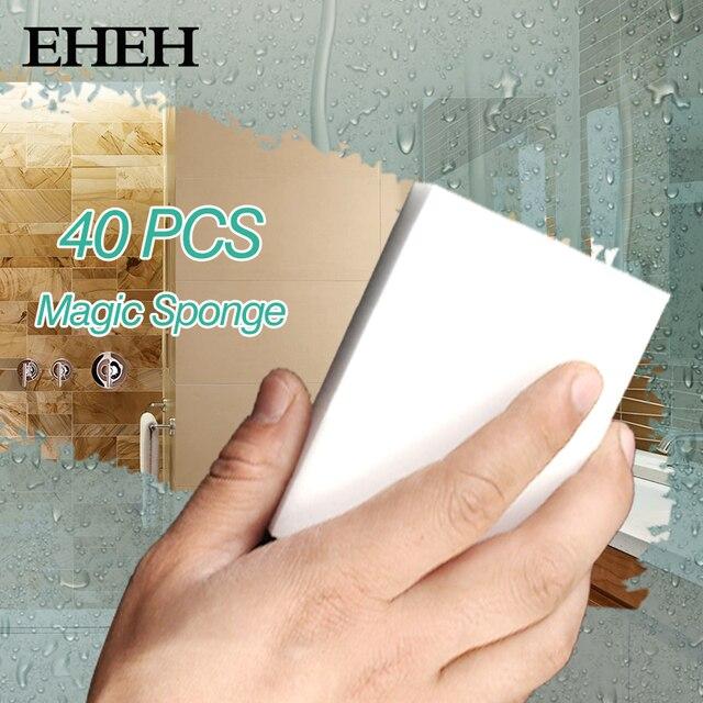 40 szt magia Sponge Eraser Cleaner akcesoria kuchenne narzędzia gąbka z melaminy silikonowe naczynia szczotka do mycia czyszczenia 100*60*20mm EH056