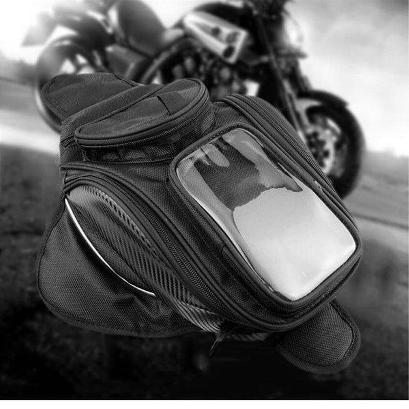 Big screen new Motorcycle tank bag motorbike oil fuel tank bag Magnetic Motorcycle Oil Fuel Tank Bike saddle bag motorcycle bag monochrome