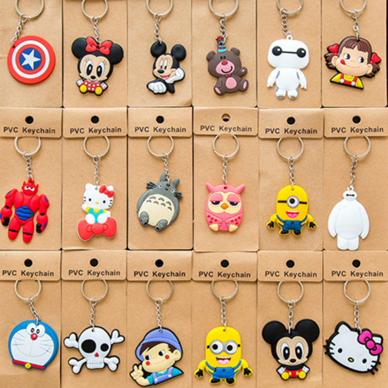 100 PCS/LOT MOST FREE SHIPPING Key Chain Novelty Wedding Gifts Guests BIRTHDAY Party CHRISTMAS Skull Superman Spider man