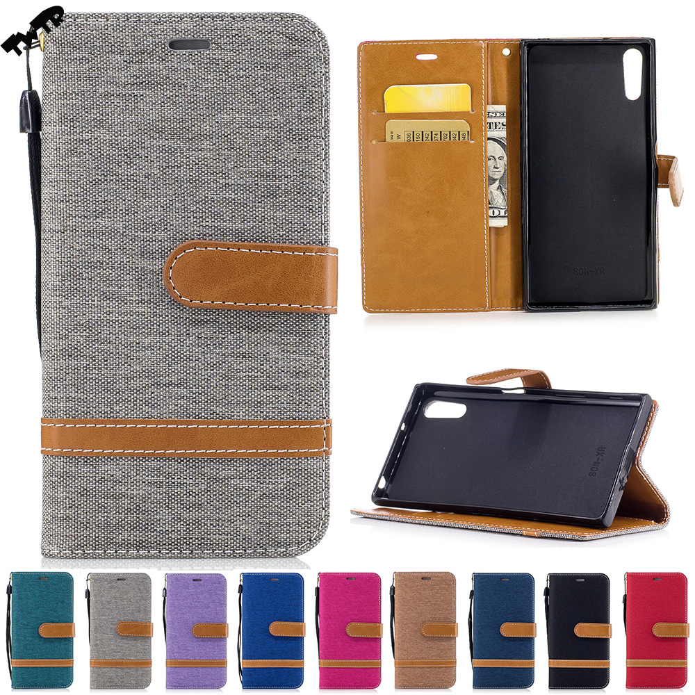 Denim Flip Case for Sony Xperia XZs Dual G8231 G8232 602SO Case Phone Cover for Sony Keyaki Xperia XZ s G 8232 8231 Cases Bag
