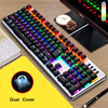 AULA Mechanical Keyboard Blue Switch Game Backlight Desktop Computer Gaming Wired 87/104 Keys Adds Dust Cover Russian sticker 1