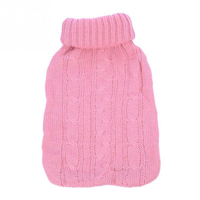 Brief Acrylic Knitted Hot Water Bottle Bag Sleeve Covers Relaxing Heat/Cold Therapy for 2L Water Battle Bag