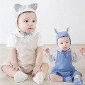 2017 Primavera Bebé de Los Mamelucos de Los Bebés Recién Nacidos Ropa Infantil Niñas Ropa de Algodón de los Bebés Del Mameluco Del Mono de Verano Desgaste General