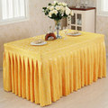 Conference tablecloths Cold food table skirts show activities desk cover multi - color hook flower tablecloth 60Wx120Dx75H cm