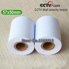 Термобумага 57 мм x 47 мм кассовый аппарат бумажная салфетка общая длина 17 метров 24 рулона/pk
