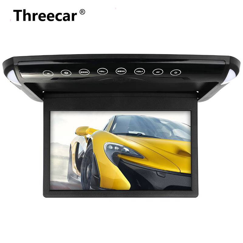 Ultra Thin 10.1 inch Car Monitor Roof Ceiling Mount Flip Down TFT LCD Monitor  DVD Player USB SD MP5 Speaker Game(China)