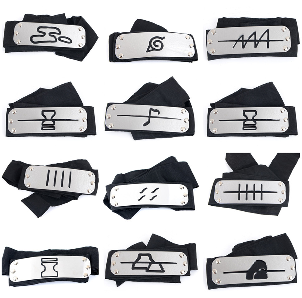 Naruto Kakashi Itachi Akatsuki Headband Cosplay Props Costumes Accessories Toys Props Anime Headband Props Hot