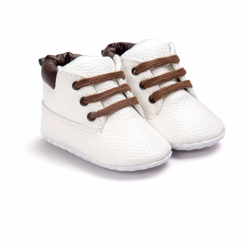 Canvas Solid Lace Up T-bundet Baby Unisex Sko Til 0-2 År Old Soft Sole Sko Komfortable Sko For Spring Efterår Baby Sko