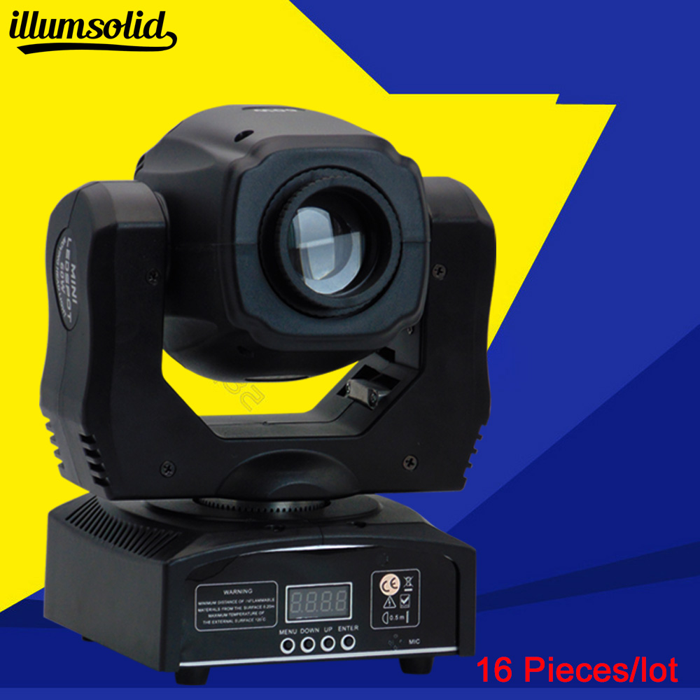 16PCS DMX-512 Mini Moving Head stage light with Automatic Professional 11 Channel Party Disco Show dmx 512 mini moving head light rgbw led stage par light lighting strobe professional 9 14 channels party disco show