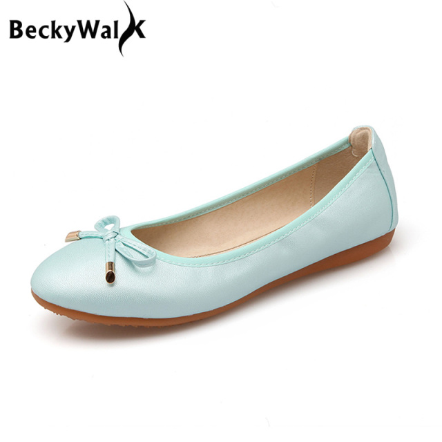 Women Foldable Ballet Flats Portable Travel Fold up Shoes Woman Round Toe  Bowknot Slip On Casual Shoes for Spring Autumn WSH2477 2a34ed731a3a