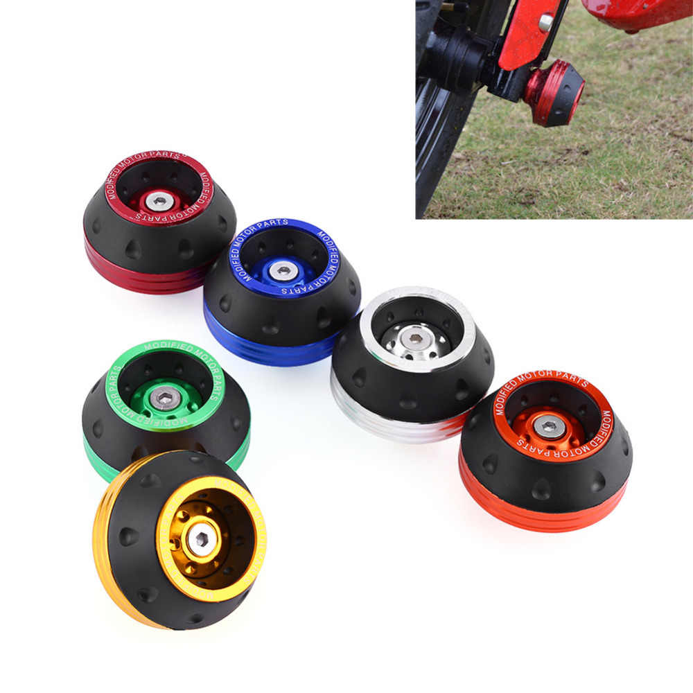 Universal Motorcycle Front Rear Fork Wheel Fall Protection Frame Slider Anti Crash Protector Motorcycle Accessories