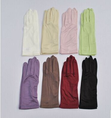 Uv High Quality Silk Knitted Gloves To Protect Skin Color More Optional