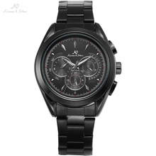 Navigator KS Luxury Brand Full Black Date Day 24 Hours Display Steel Strap Automatic Self Winding