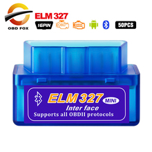 50pcs/lot Super mini ELM 327 V2.1 OBD2 Scanner Bluetooth ELM327 V1.5 WIFI car diagnostic cable Works On Android DHL free