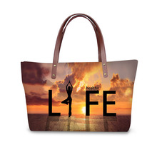 Handbag for Women 2019 eoprene Bags Shoulder Bag Beach Bag Yoga Print Pattern Design Tote Bolso купить дешево онлайн