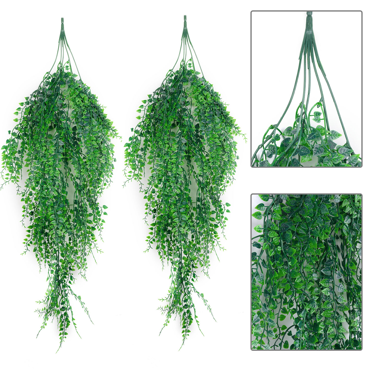 2Pcs Artificial Hanging Plant Simulated Leaves Fake Ivy Fake Hanging Plants For Wedding Decor Living Room