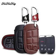 цена на KUKAKEY Genuine Leather Key Case Cover Key Bag For Dodge Caliber Journey Caravan Charger RAM Nitro Car Styling Accessories
