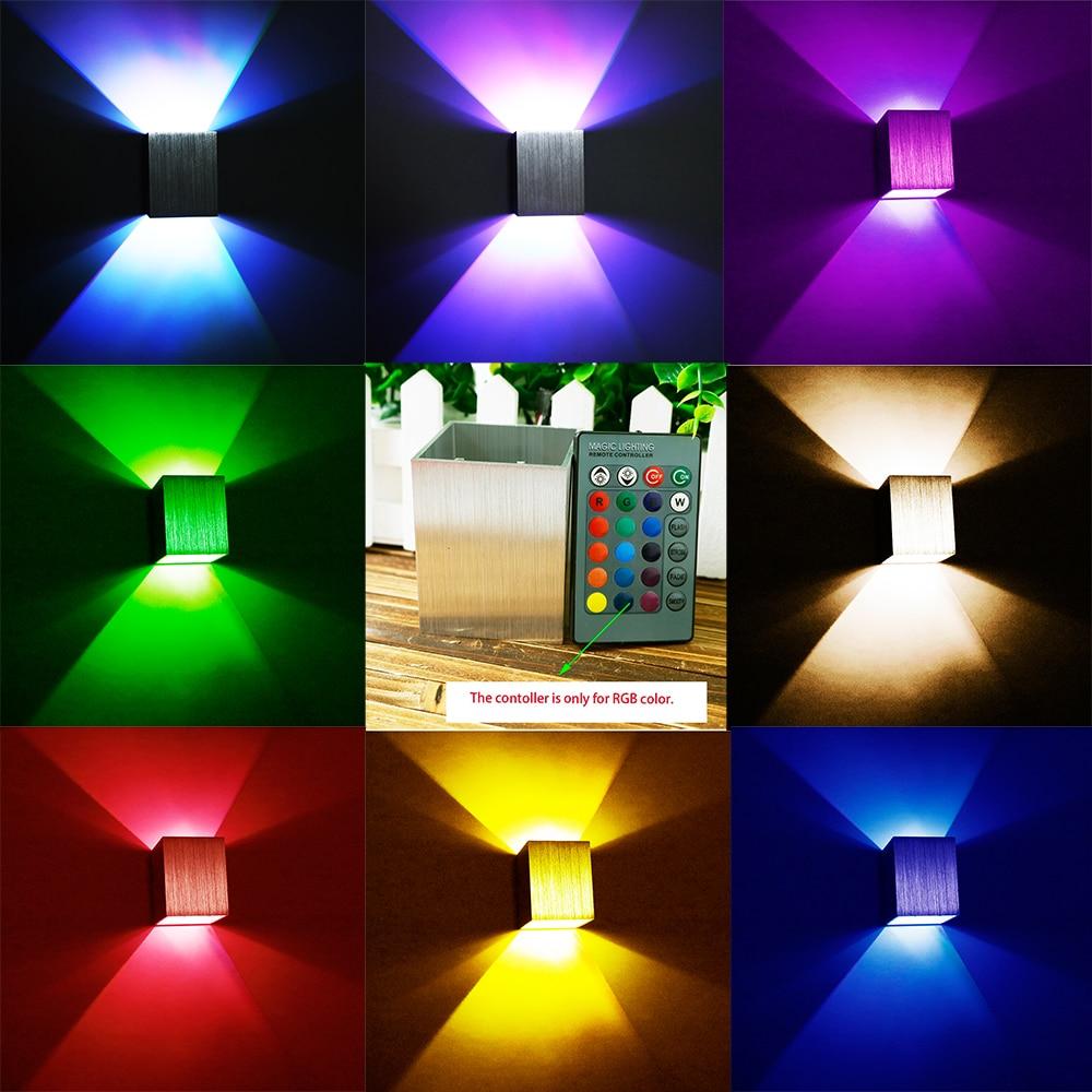 AC85-265V 3W LED moderní čtvercová nástěnná lampa Hliníkové lampy Osvětlení pro chodbu Homedecoration Ložnice KTV Pozadí Světlo BF