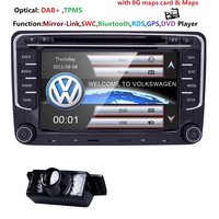 7 2din Car DVD GPS built in CanBus support fit Original VW UI for VW Volkswagen POLO PASSAT B6 Golf5 SWC BT RDS Radio FM/AM DAB