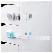 Многофункциональная двойная кнопка детская защита замок детское защитное оборудование анти-папка ручной холодильник с 8Pcs