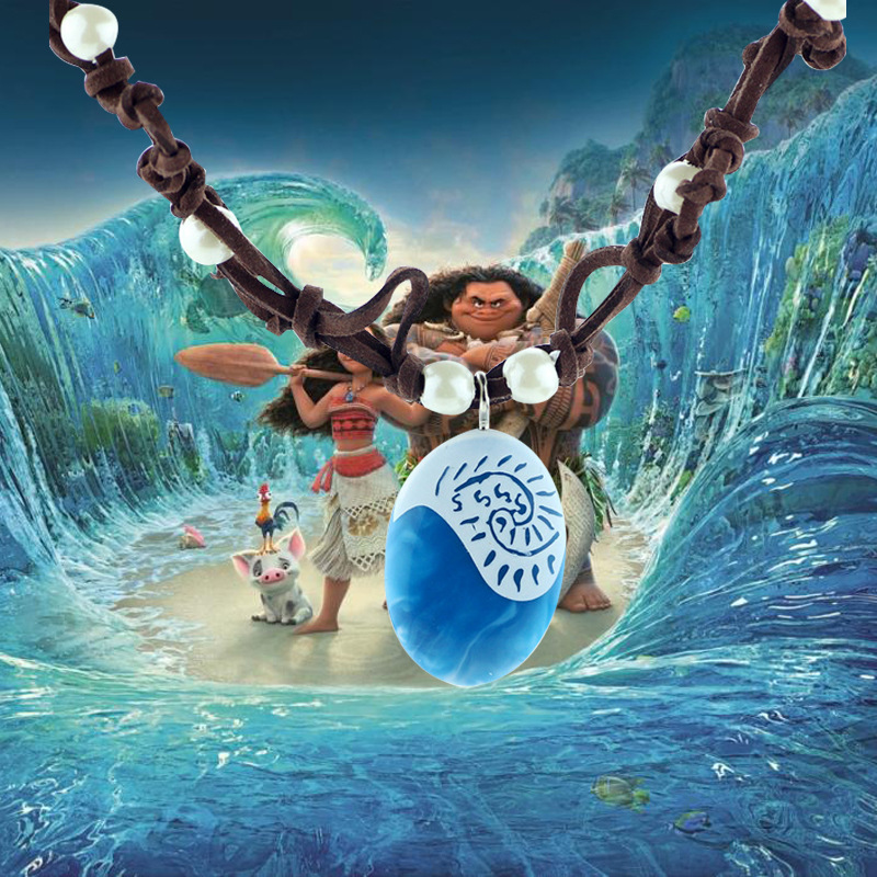 Costumes & Accessories 2017 Moana Princess Vaiana Necklace Pendant Anime Figure Action & Toy Figures Principessa Cosplay Props Cosplay Costume Gift Packing Of Nominated Brand Novelty & Special Use