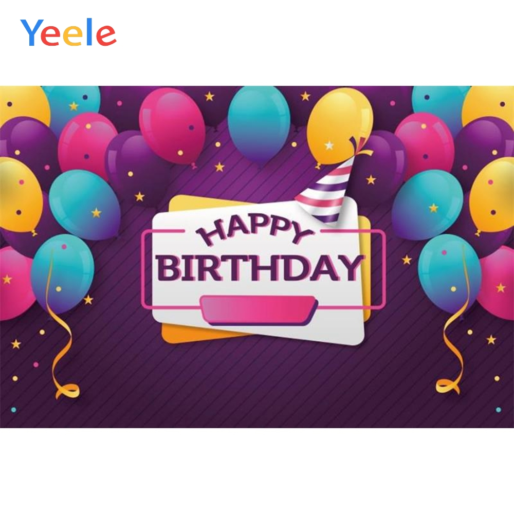 Yeele Colorful Balloons Backdrops Birthday Party Photography Backgrounds Customized Photographic Backdrop For Photo Studio in Background from Consumer Electronics
