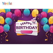 Yeele Colorful Balloons Backdrops Birthday Party Photography Backgrounds Customized Photographic Backdrop For Photo Studio