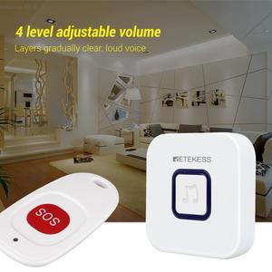 Image 5 - Retekess di cura casa di cura sistema di chiamata di emergenza cercapersone Campanello Senza Fili Ricevitore e SOS One Button Pager per il paziente anziano