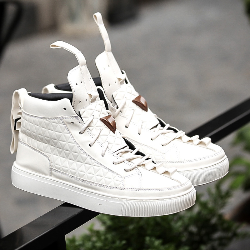 2017 New Spring Autumn British Style Men Shoes Casual Shoes Men High