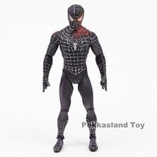 Marvel Black Spiderman Action Figure Super Heros Spider Man Toys 18cm