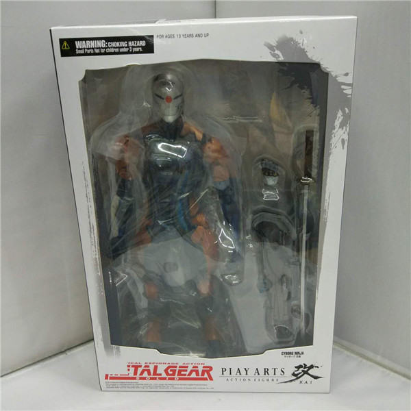 Play Arts Kai Solidus Snake Gray Fox Metal Gear Solid Cyborg Ninja PA 27cm PVC Action Figure Doll Toys Kids Gift Brinquedos