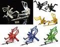 CNC de la motocicleta Piloto Trasero Ajustable Sets Clavijas Rearset Reposapiés Reposapiés Para SUZUKI SV1000 SV1000S 2003 2004 2005 2006 2007