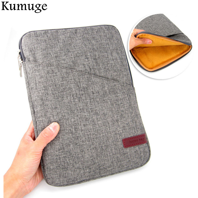 For New iPad 9.7 inch 2017 Shockproof Tablet Liner Sleeve Pouch Bag for iPad Pro 10.5 Air 2 /1 Pro 9.7 Cotton Tablet Cover Case
