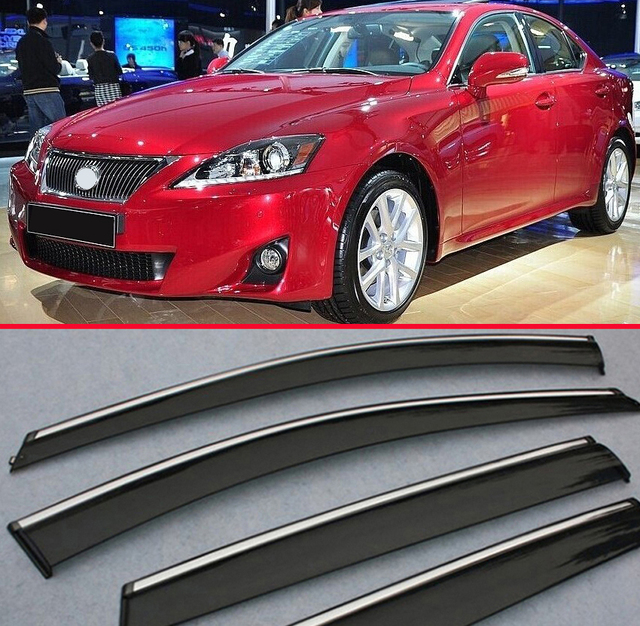 for lexus is class is200 is250 is300 2011+ window wind deflector