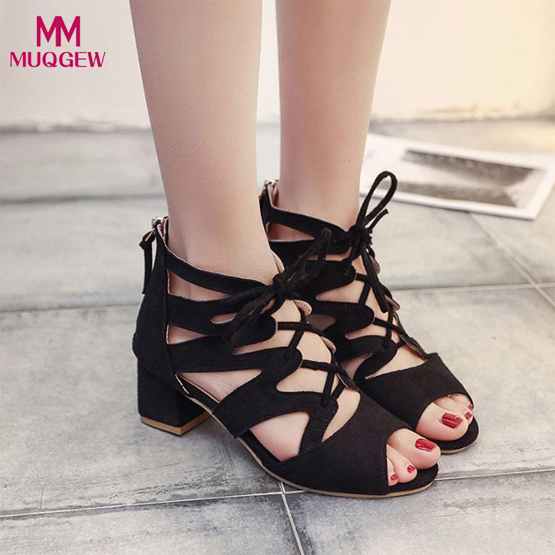 2018 Fashion Shoes Women Sandals Ladies Sexy Fish mouth Ankle Square Heels Block Party Open Toe Shoes Female Designer Sandals in the summer of 2016 the new wedge heels with fish in square mouth denim fashion sexy female cool shoes nightclubs