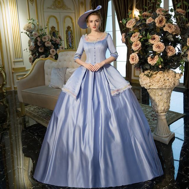 Marie antoinette movie blue dress for Marie antoinette wedding dress