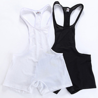 Brand Sexy Men Underwear Boxers Mesh Bodysuit Shorts Corsets Male Body Trunks Funny Clothes Jumpsuits Gay