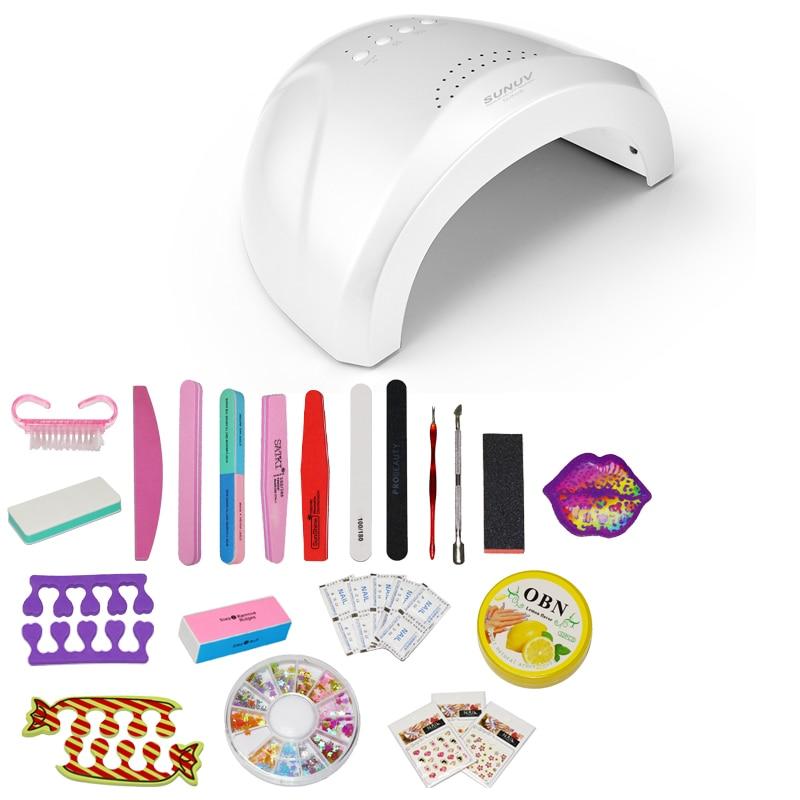 SUN ONE 48W/24W UVLED White Light Nail Dryer LED Nail Lamp Gel Nail Polish Dryer Fingernail Toenail Gel Curing Nail Art nail dryer